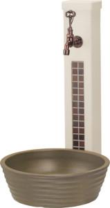 ファミエンテスタンド1口セピアブラウン陶芸ポットラルゴダークブラウン、セキュリティフォーセットアンティーク組み合わせ例