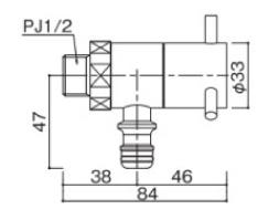 プレーンフォーセットホース用蛇口ローター サイズ