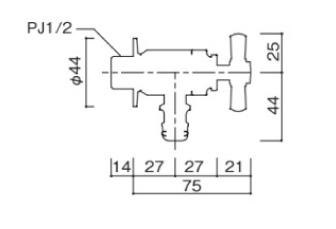 プレーンフォーセットホース用蛇口C サイズ