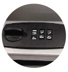 デザインポスト バレット ダイヤル錠