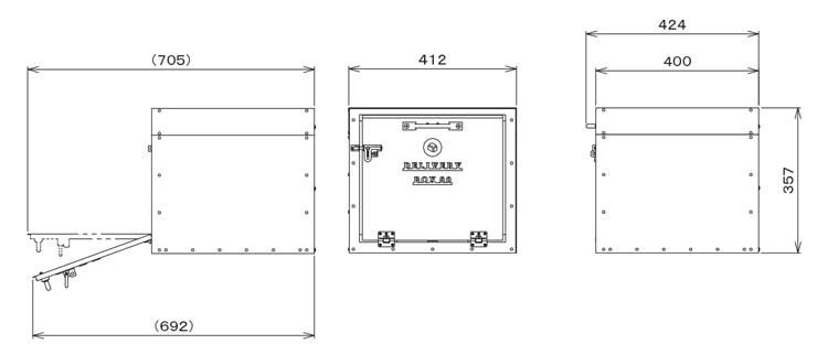 デポ 宅配BOX80 サイズ