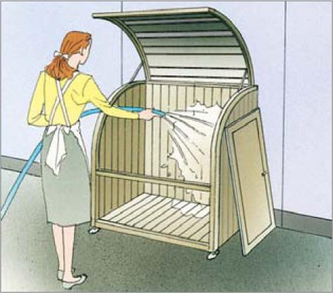ゴミストッカーAP2型 水洗い