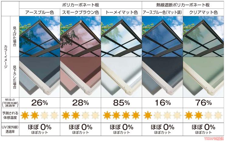 レイナポートグラン 屋根ふき材カラー
