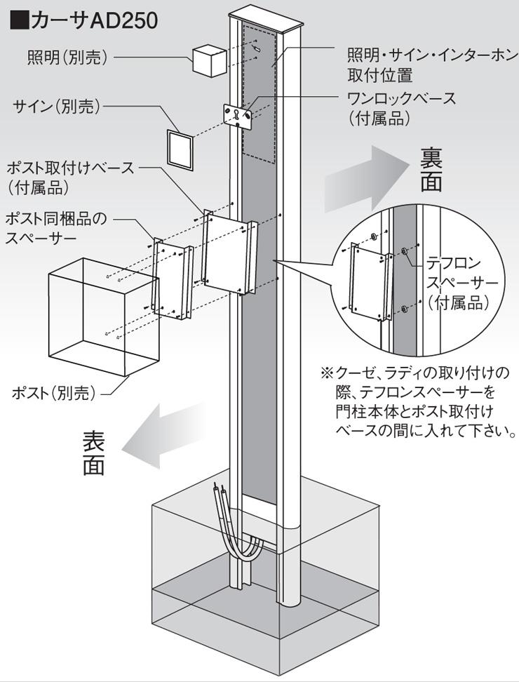 カーサAD250 SUS 参考施工図2