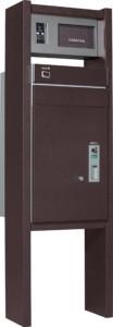 コルディアラックILS_100471×1500本体前出し左開きタイプ+インターホンカバー左仕様レザーブラウン単品