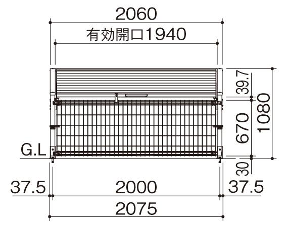 ゴミストッカーMS10型 基本型サイズ