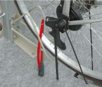 自転車ラック CF-B チェーンロック取付可能