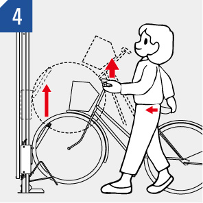 自転車ラック CF-B 入れる場合 (4)