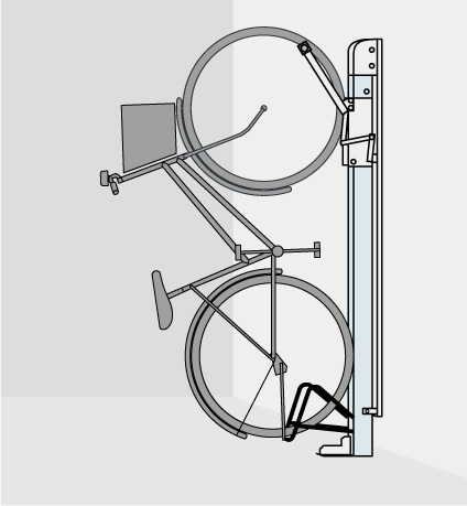 自転車ラック CF-B 省スペース