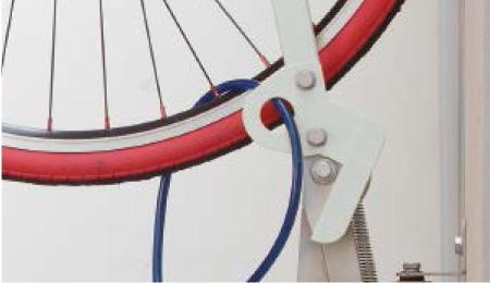 自転車ラックCF-AN チェーンロック金具付き