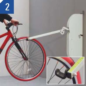 自転車ラックCF-AN 自転車を入れる場合 (2)
