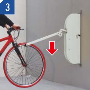 自転車ラックCF-AN 自転車を入れる場合 (3)