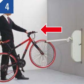 自転車ラックCF-AN 自転車を入れる場合 (4)