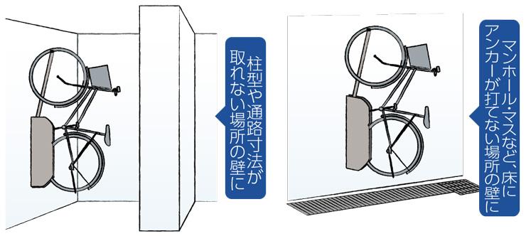 自転車ラックCF-AN 設置場所例 (2)