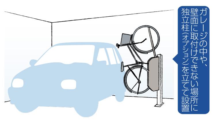 自転車ラックCF-AN 設置場所例