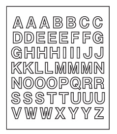 USメールボックス アルファベット文字付属